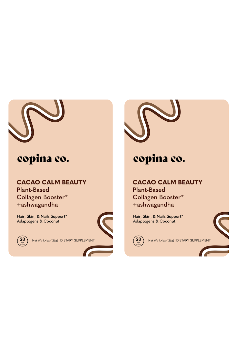 """<h2>Copina Co. Plant-Based Collagen Booster</h2> <br>The hype around collagen powder isn't dying down. It's thought to <a href=""""https://www.refinery29.com/en-ca/2019/05/232620/benefits-collagen-powder-genuine-health-sproos-marine-bovinehttps://www.refinery29.com/en-ca/2019/05/232620/benefits-collagen-powder-genuine-health-sproos-marine-bovine"""" rel=""""nofollow noopener"""" target=""""_blank"""" data-ylk=""""slk:benefit your skin and your joints"""" class=""""link rapid-noclick-resp"""">benefit your skin and your joints</a>. <br><br><strong>Copina Co</strong> Plant-Based Collagen Booster, $, available at <a href=""""https://go.skimresources.com/?id=30283X879131&url=https%3A%2F%2Fcopinaco.com%2Fproducts%2F2-pack-cacao-calm-beauty-plant-based-collagen-booster-ashwagandha"""" rel=""""nofollow noopener"""" target=""""_blank"""" data-ylk=""""slk:Copina Co"""" class=""""link rapid-noclick-resp"""">Copina Co</a><br>"""