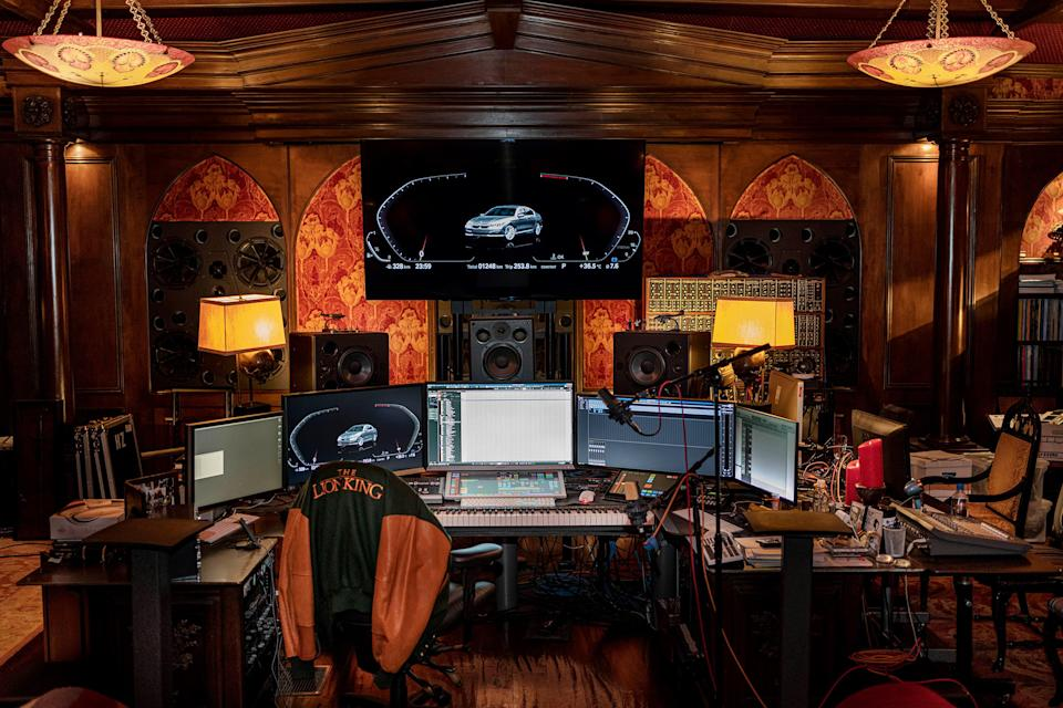 """Composer Hans Zimmer's Los Angeles studio, in June 2019<span class=""""copyright"""">Courtesy BMW</span>"""