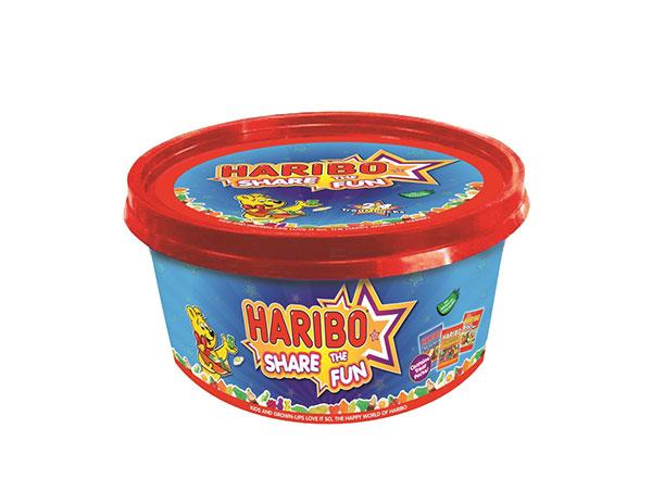 "<b>Haribo Share the Fun Tub</b><br><br>It's Christmas so it's OK for kids to eat tonnes of sweets, right? While the adults dive into the tub of Celebration chocolates the kids can share this huge box of Haribo. Sorted.<br><b><br><a target=""_blank"" href=""http://www.tesco.com/groceries/Product/Details/?id=271005010"">Tesco</a>, £5</b><br><br>"