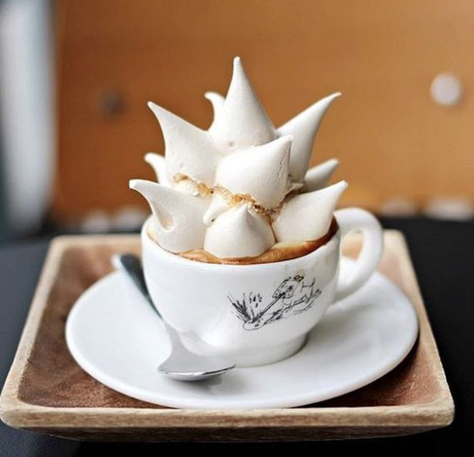 <p>Okay, so it didn't quite take over Instagram like some coffee crazes, but we wish it had. Meringue coffee is exactly that – coffee with glorious, hedgehog-style meringue on top. Looks fab, but not sure how easy it is to drink… [Photo: Instagram/hugmeparis] </p>