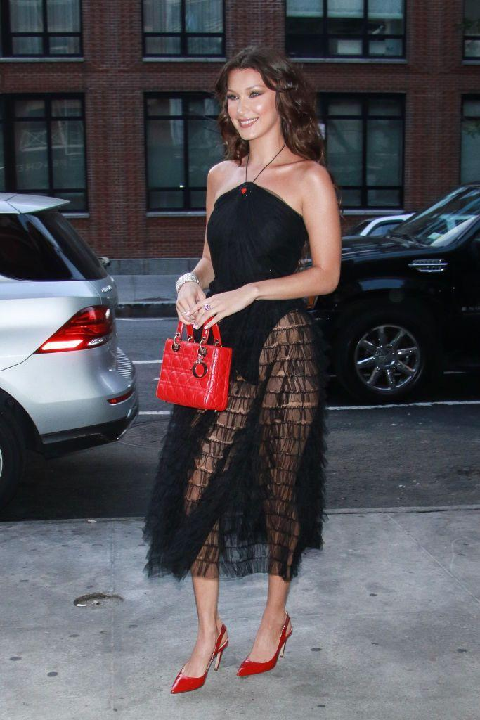 """<p>To attend a dinner at Frenchette in New York City to celebrate the new <span class=""""redactor-unlink"""">Dior Backstage</span> makeup collection the model wore SS17 Dior.</p>"""