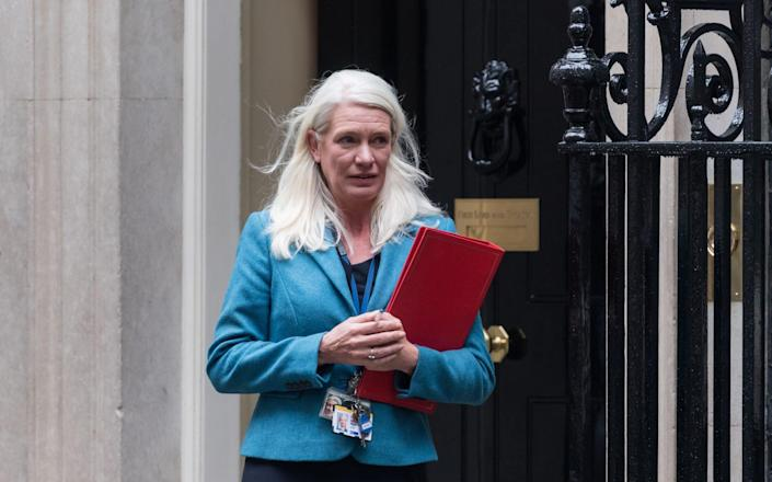Conservative Party Chairman and Minister without Portfolio Amanda Milling leaves Downing Street - Anadolu Agency