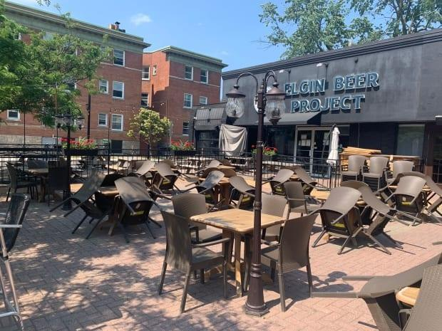 The patio at Elgin Beer Project could reopen as soon as Friday, when Ontario moves into the first phase of its reopening plan. (Joseph Tunney/CBC - image credit)
