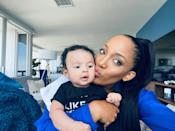 """<p><a href=""""https://people.com/parents/mickey-guyton-pregnant-expecting-son-pray-for-him-exclusive/"""" rel=""""nofollow noopener"""" target=""""_blank"""" data-ylk=""""slk:Mickey Guyton"""" class=""""link rapid-noclick-resp"""">Mickey Guyton</a> is another new mom on the list.</p> <p>The country singer gave birth to her son,<a href=""""https://people.com/parents/mickey-guyton-welcomes-son-grayson/"""" rel=""""nofollow noopener"""" target=""""_blank"""" data-ylk=""""slk:Grayson Clark"""" class=""""link rapid-noclick-resp""""> Grayson Clark</a>, in February. The first time mom shares Grayson with husband Grant Savoy. </p> <p>The """"Black Like Me"""" singer opened up <a href=""""https://people.com/parents/grammys-2021-mickey-guyton-being-mom-greatest-thing-i-will-ever-experience/"""" rel=""""nofollow noopener"""" target=""""_blank"""" data-ylk=""""slk:to PEOPLE in March"""" class=""""link rapid-noclick-resp"""">to PEOPLE in March </a>about welcoming her son into the world. </p> <p>""""Literally he is all I think about. And he's my reason. I'm doing all of this for him. I just want to make him proud,"""" Guyton said. """"And to make this world easier for him as he grows up and becomes a young Black man. I'm just obsessed with him if you can't tell, like really, really obsessed with him.""""</p> <p>Guyton added, """"So far, I think he's going to be a very calm, independent child. Like he definitely likes his autonomy. He's really sweet, he likes to eat. I think he's gonna be tall. He's really just a sweet, sweet baby.""""</p>"""