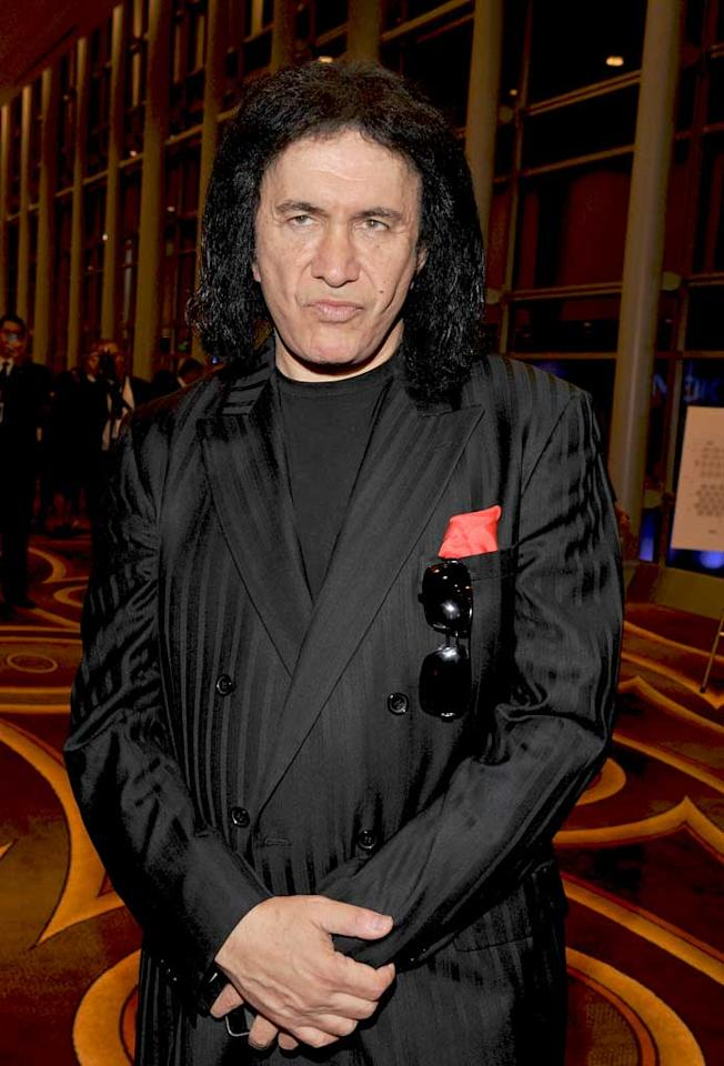 """August 25: Gene Simmons turns 61  Lester Cohen/<a href=""""http://www.wireimage.com"""" target=""""new"""">WireImage.com</a> - January 13, 2010"""