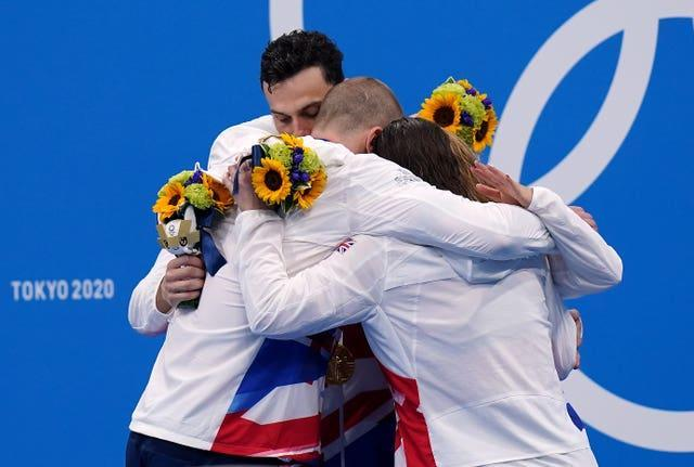 Britain set a world record time in the mixed 4x100m medley relay (Adam Davy/PA)