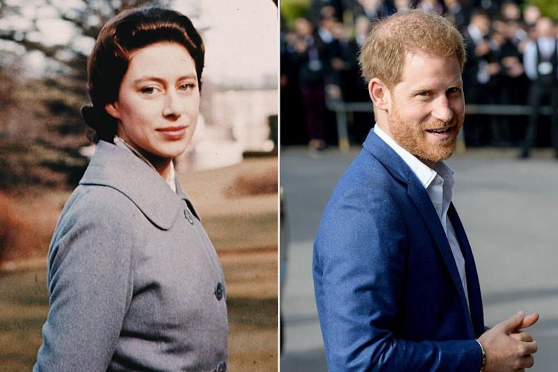 Princess Margaret and Prince Harry   Hulton Archive/Getty Images; EAMONN M. MCCORMACK/Getty Images