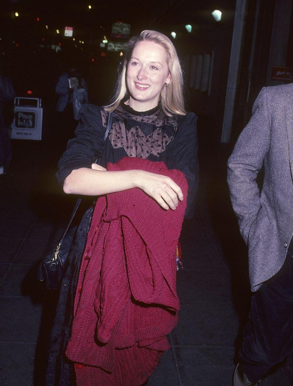 <p>Before winning three Oscars and nine Golden Globes, Meryl Streep got her start on Broadway. She starred in <em>Trelawny of the Wells </em>in 1975. One year later, she earned a Tony Award nomination for <em>27 Wagons Full of Cotton.</em> Streep's star continued to shine with film roles in <em>Kramer vs. Kramer, Sophie's Choice </em>and <em>The Bridges of Madison County. </em><br></p>
