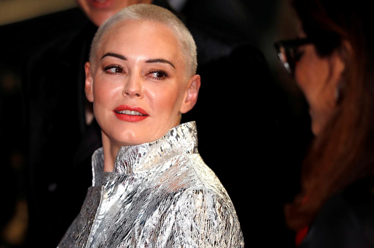 Actor Rose McGowan attends the GQ Men of the Year Awards at the Tate Modern in London, Britain, September 5, 2018. REUTERS/Peter Nicholls