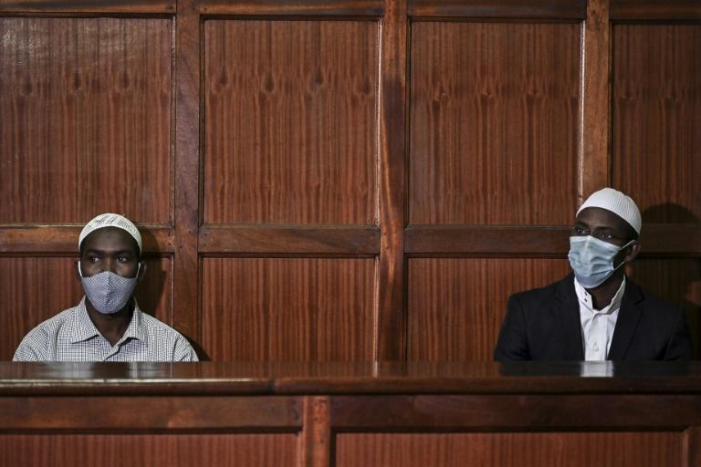 In the dock: Hassan Hussein Mustafa, left, and Mohamed Ahmed Abdi awaiting the verdict on Friday