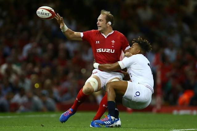 Wales captain Alun Wyn Jones is set to feature at his fourth Rugby World Cup (AFP Photo/GEOFF CADDICK)