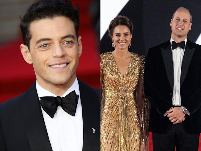 On the left: Rami Malek at the UK premiere of