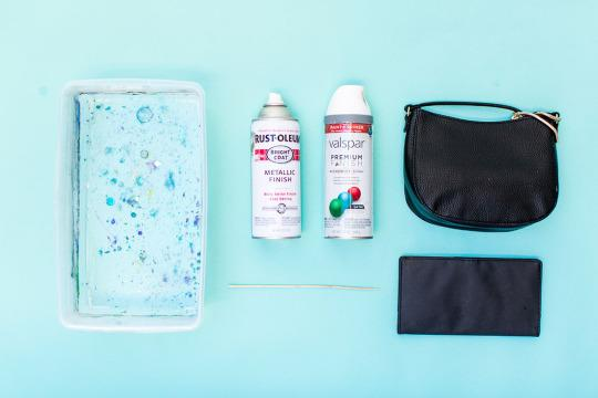 <p>Spray paint; plastic container; water; old accessories</p>