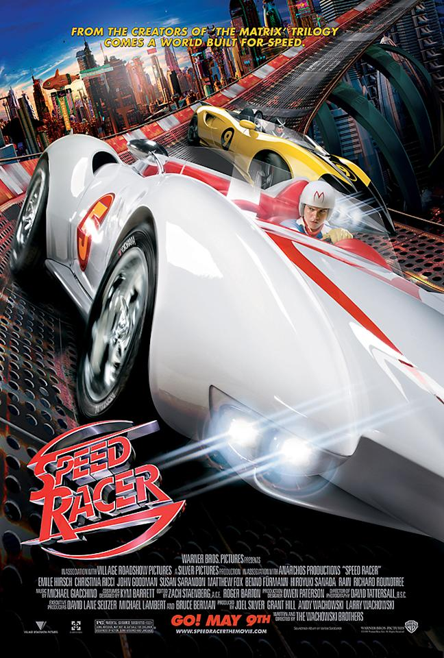 "<a href=""http://movies.yahoo.com/movie/speed-racer/""><b>Speed Racer</b></a><br> Release date: May 9, 2008<br> Estimated budget: $120 million<br> U.S. gross: $44 million"