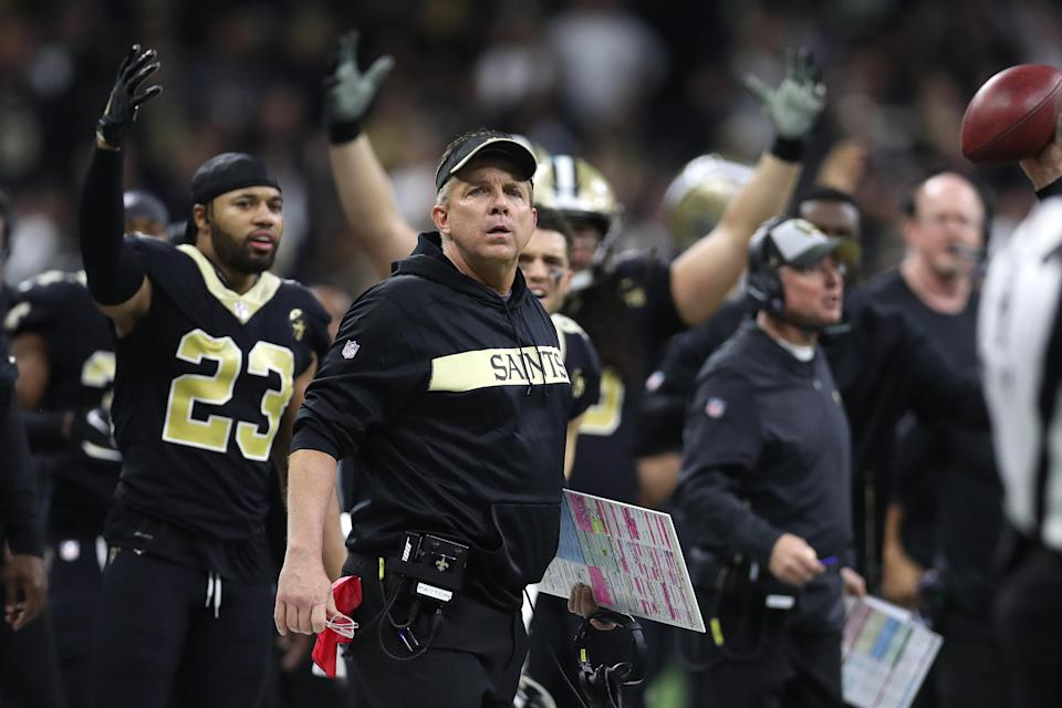 Saints fans are salty over a blown non-call that helped to cost their team a chance at the Super Bowl. (Photo by Chris Graythen/Getty Images)