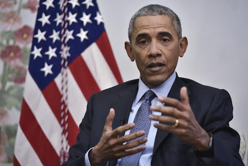 US President Barack Obama answers questions during an interview in Washington DC, on January 6, 2016