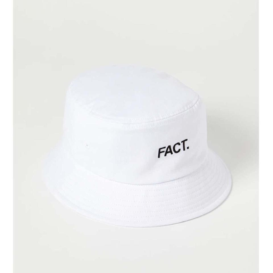 "For the person who stays stating #facts, this bucket hat will keep the '90s vibes going strong. $36, Verishop. <a href=""https://www.verishop.com/fact/hats/box-logo-bucket-hat/p4172462030871?color=white"">Get it now!</a>"