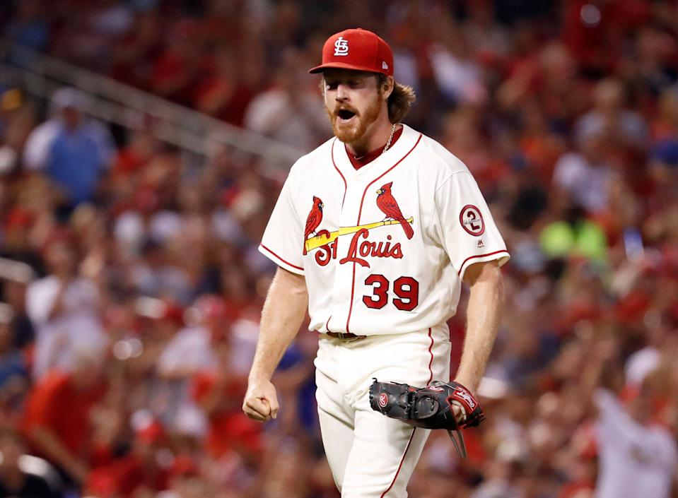 Cardinals right-hander Miles Mikolas was one of MLB's best stories in 2018. (AP Photo/Jeff Roberson)
