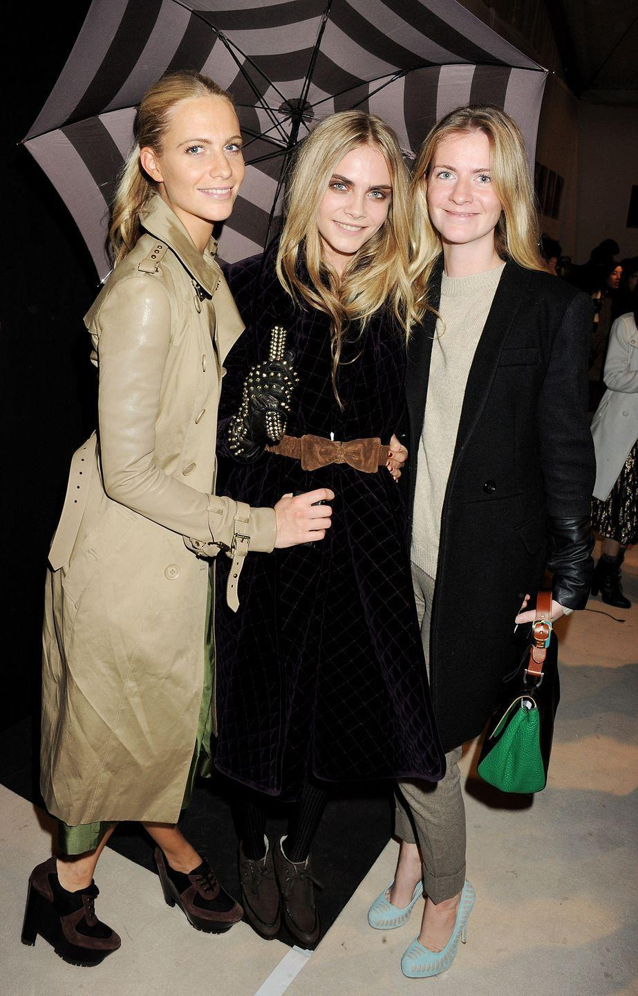 "<p>Cara and Poppy Delevingne are both in the spotlight, and the oldest of the siblings, Chloe, is a well-known socialite in London. She also just joined her sisters as a business partner for their vegan prosecco, <a href=""https://dellavite.com/"" rel=""nofollow noopener"" target=""_blank"" data-ylk=""slk:Della Vite"" class=""link rapid-noclick-resp"">Della Vite</a>. </p>"