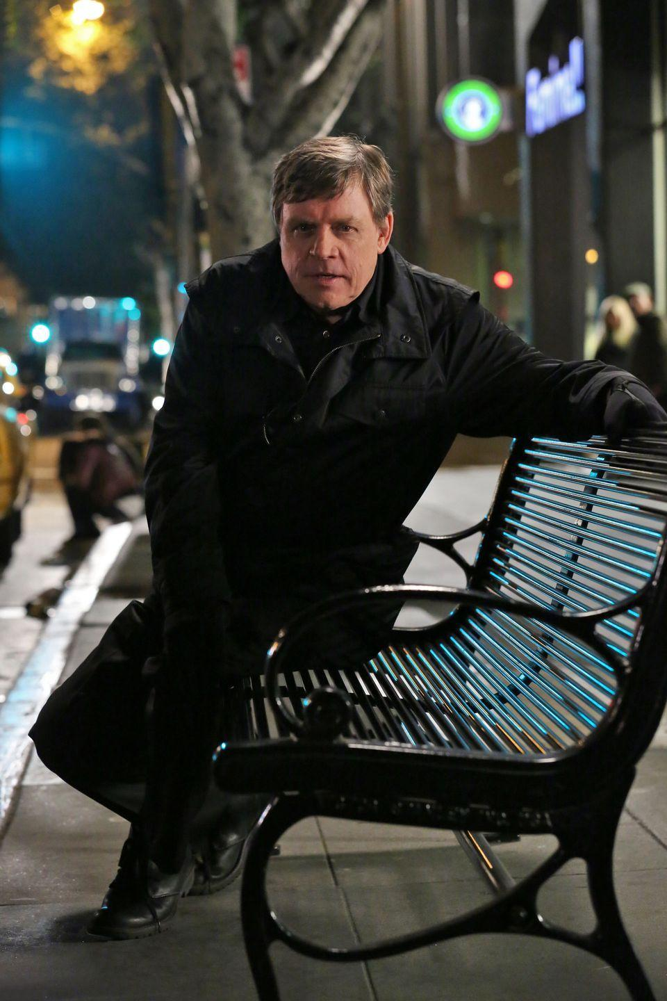 "<p>Mark Hamill tapped into the dark side of the Force for his role of copycat serial killer John Curtis aka The Replicator. The Replicator taunts the BAU over the course of several episodes in season eight before it all comes together in an explosive (literally) season finale. </p><p>Mark told <a href=""https://www.buzzfeed.com/arianelange/criminal-minds-finale-mark-hamill-replicator"" rel=""nofollow noopener"" target=""_blank"" data-ylk=""slk:Buzzfeed"" class=""link rapid-noclick-resp"">Buzzfeed</a> that it was his daughter, who's a big fan of the show, who encouraged him to take the role. ""Usually you don't have an arc like this where they set up something over a period of many, many episodes,"" he said of the character. ""As soon as I started watching these episodes, I said, 'Oh, I gotta do this!'""</p>"