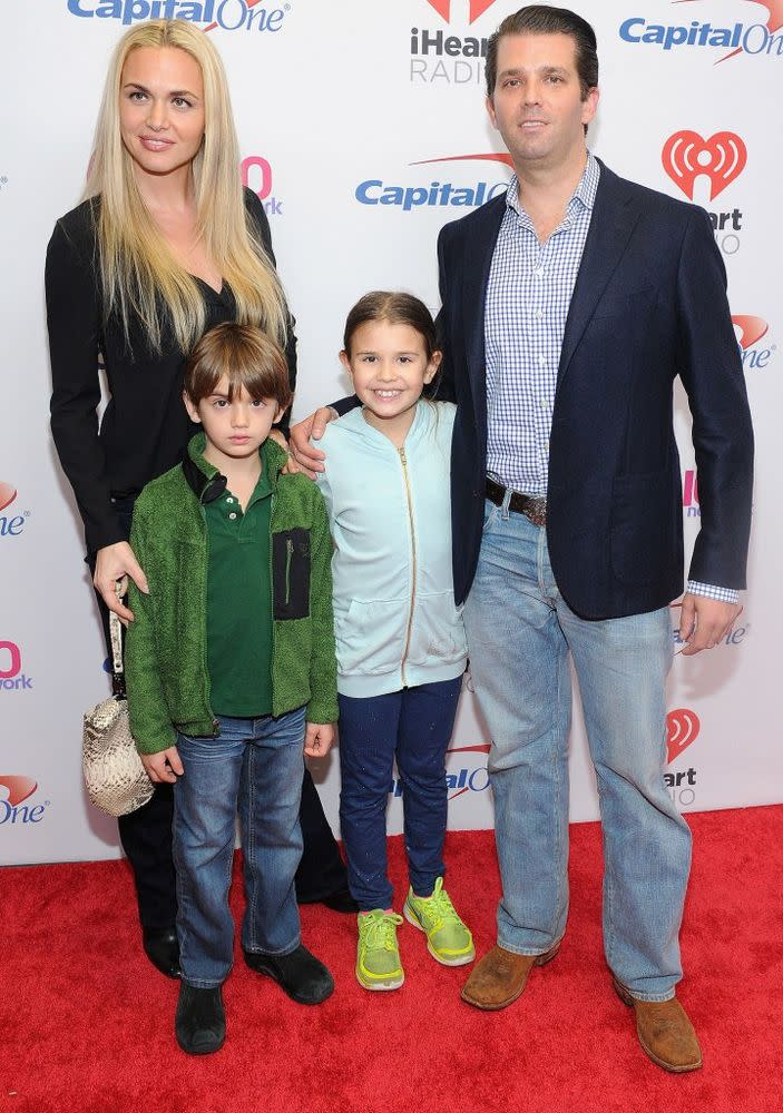 Vanessa and Donald Trump Jr. with their daughter Kai and son Donald III