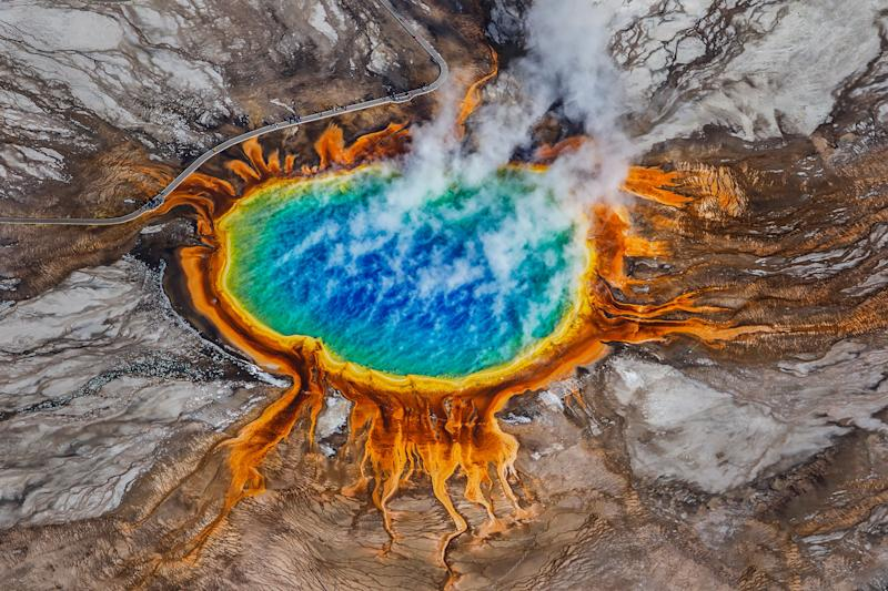 Grand Prismatic Spring in Wyoming's Yellowstone National Park. (Photo: Ajith Kumar via Getty Images)