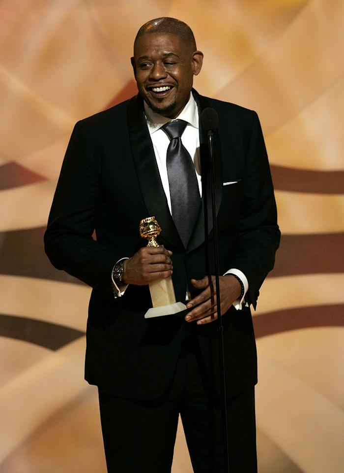 "<a href=""/forest-whitaker/contributor/29951"">Forest Whitaker</a> seems at a loss for words when he wins at <a href=""/the-64th-annual-golden-globe-awards/show/40075"">the 64th annual Golden Globe Awards</a>."