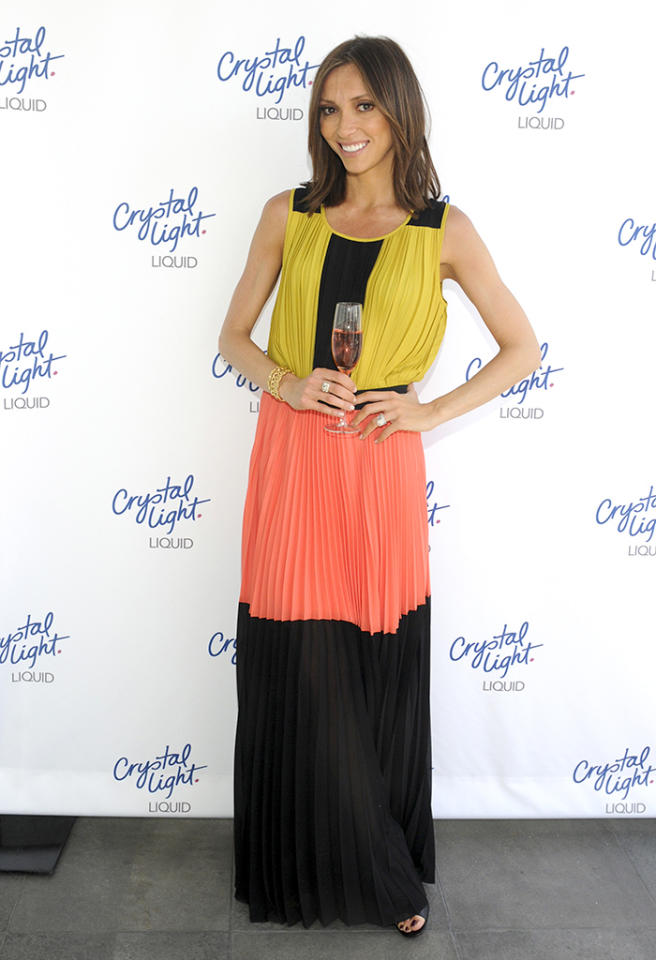 We're all about color-blocking here at omg! ... just not when it involves yellow, peach, and black ... and/or Giuliana Rancic. (2/26/2013)