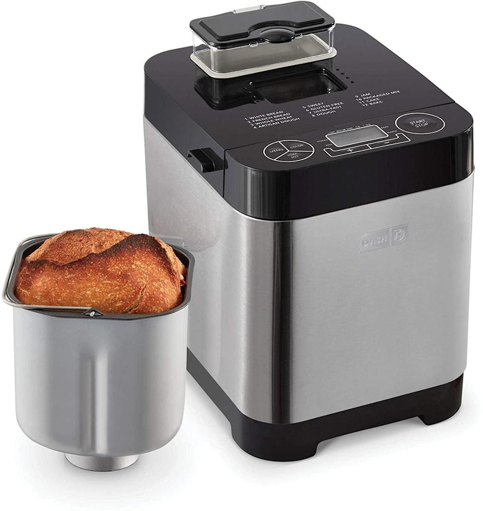 <p>Make the yummiest bread right at home with this <span>Dash Everyday Stainless Steel Bread Maker</span> ($61, originally $120). It's got 12 different settings and can make a loaf that's one and a half pounds. </p>