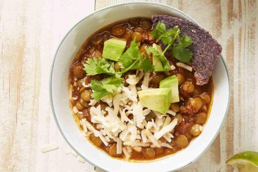 "<p>Make this protein-packed soup in minutes in a pressure cooker. <em>Minutes!</em></p><p><em><em><a href=""https://www.goodhousekeeping.com/food-recipes/a34131/chipotle-lentil-chili"" rel=""nofollow noopener"" target=""_blank"" data-ylk=""slk:Get the recipe for Chipotle Lentil Chili »"" class=""link rapid-noclick-resp"">Get the recipe for Chipotle Lentil Chili »</a></em> <br></em></p>"