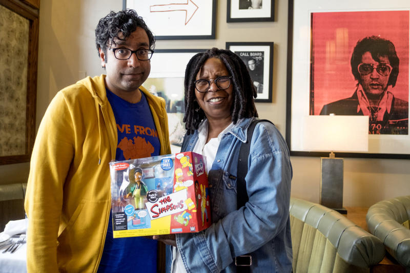 Hari Kondabolu also spoke wth actress Whoopi Goldberg about Hollywood's use of caricatures and blackface to portray people of color. (The Problem With Apu truTV)