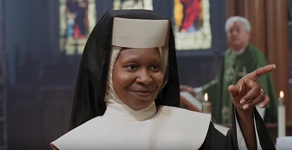 Whoopi Goldberg is reprising her iconic 'Sister Act' role in a West End stage revival of the hit 1992 comedy musical (Touchstone Pictures)