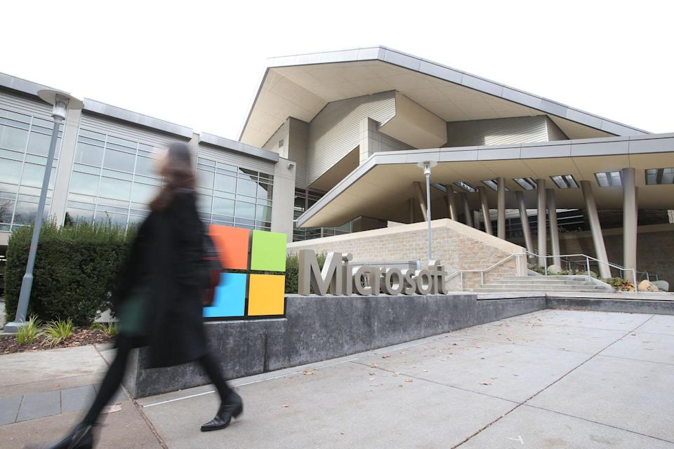REDMOND ,U.S., Dec. 3, 2019 -- Photo taken on Nov. 14, 2019 shows the Microsoft headquarters in Redmond, the United States. The world will continue to see technological breakthroughs in artificial intelligence ,AI, and their potential application in healthcare and financial services will have a transformative impact on human life, Harry Shum has said. (Photo by Wang Ying/Xinhua via Getty) TO GO WITH Interview: AI breakthroughs potentially to reshape healthcare, finance: Microsoft AI chief