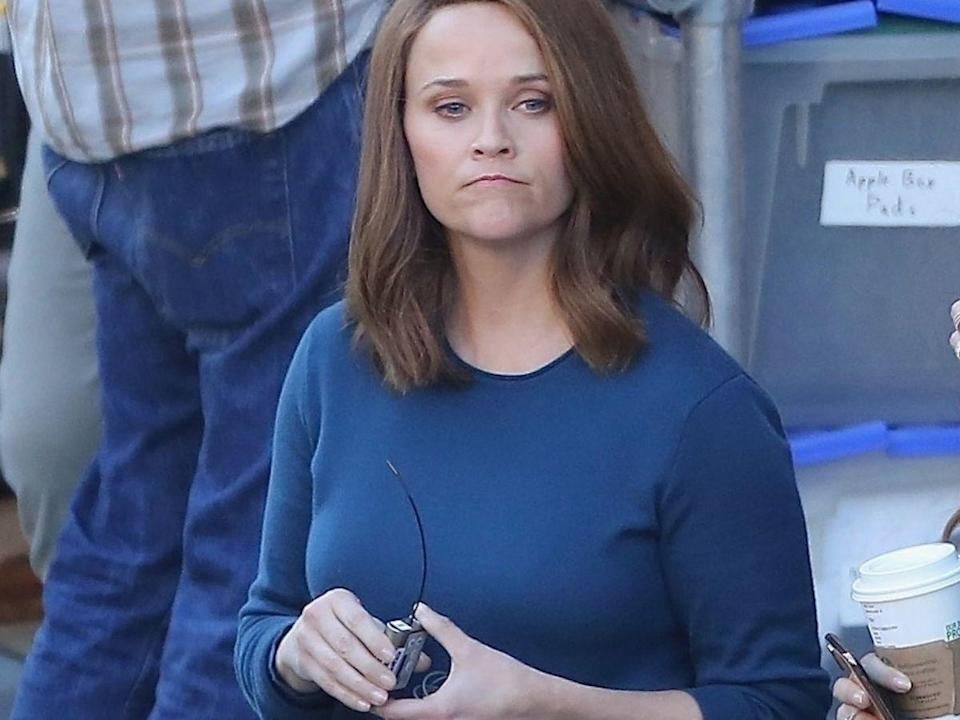 """Reese Witherspoon has brown her for upcoming role in The Morning Show.<span class=""""copyright"""">Photo: Backgrid.</span>"""