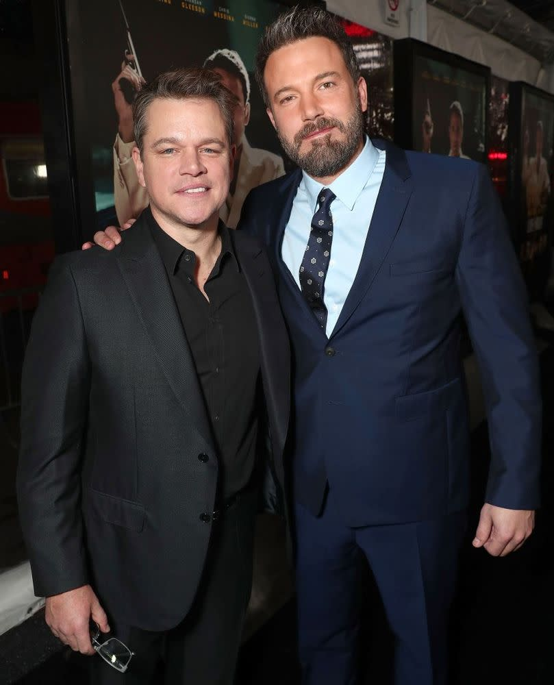 Matt Damon and Ben Affleck in 2017