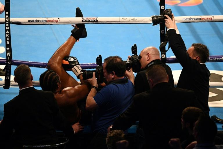 David Haye was stopped for the first time since 2004 after Tony Bellew knocked him out of the ring prompting trainer Shane McGuigan to throw in the towel