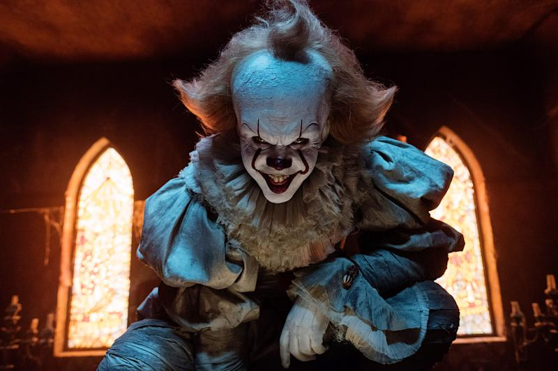 Bill Skarsgard as Pennywise in 'It: Chapter One' (Photo: Brooke Palmer/© Warner Bros. /Courtesy Everett Collection)