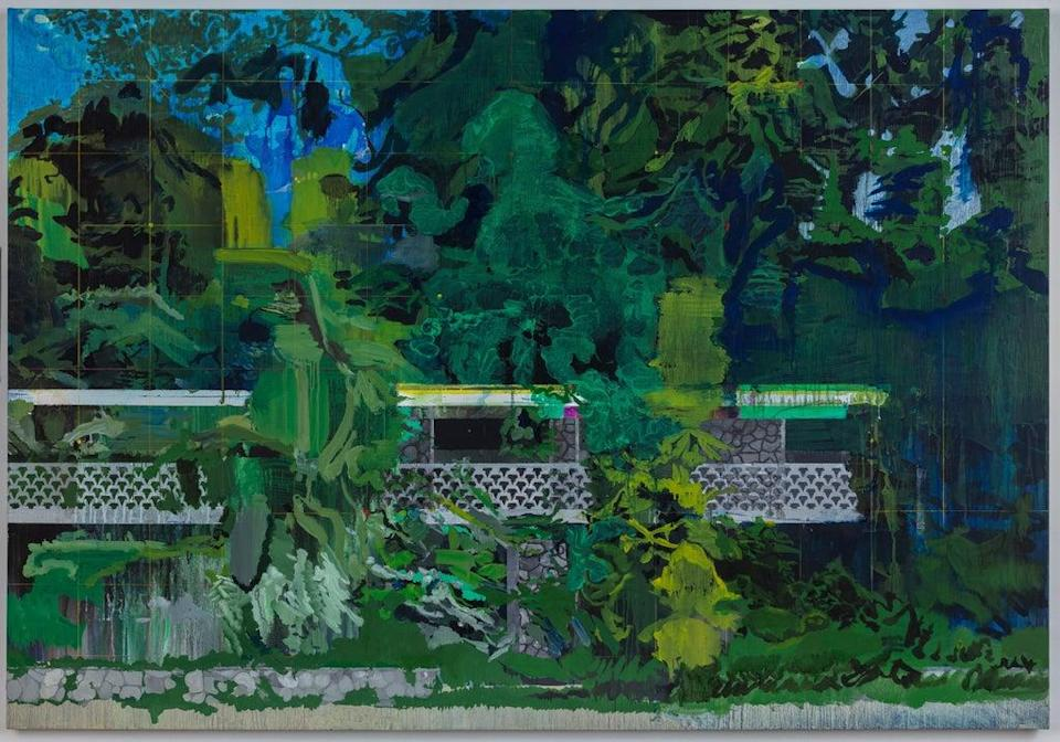 Limestone Wall 2020 (Hurvin Anderson. Courtesy the artist and Thomas Dane Gallery)