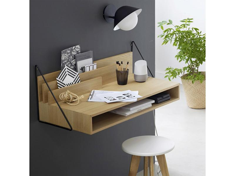 A small desk  with useful storage will help you make the most of the space tooLa Redoute
