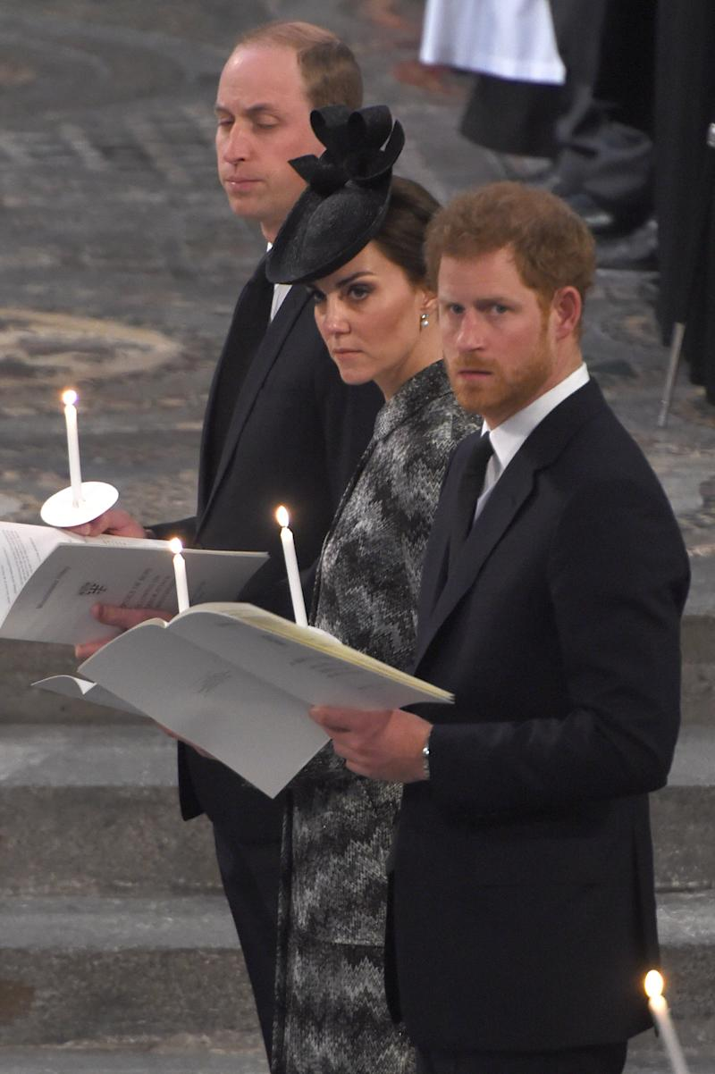 Kate Middleton, Prince William, and Prince Harry Honor Victims of London Terror Attack