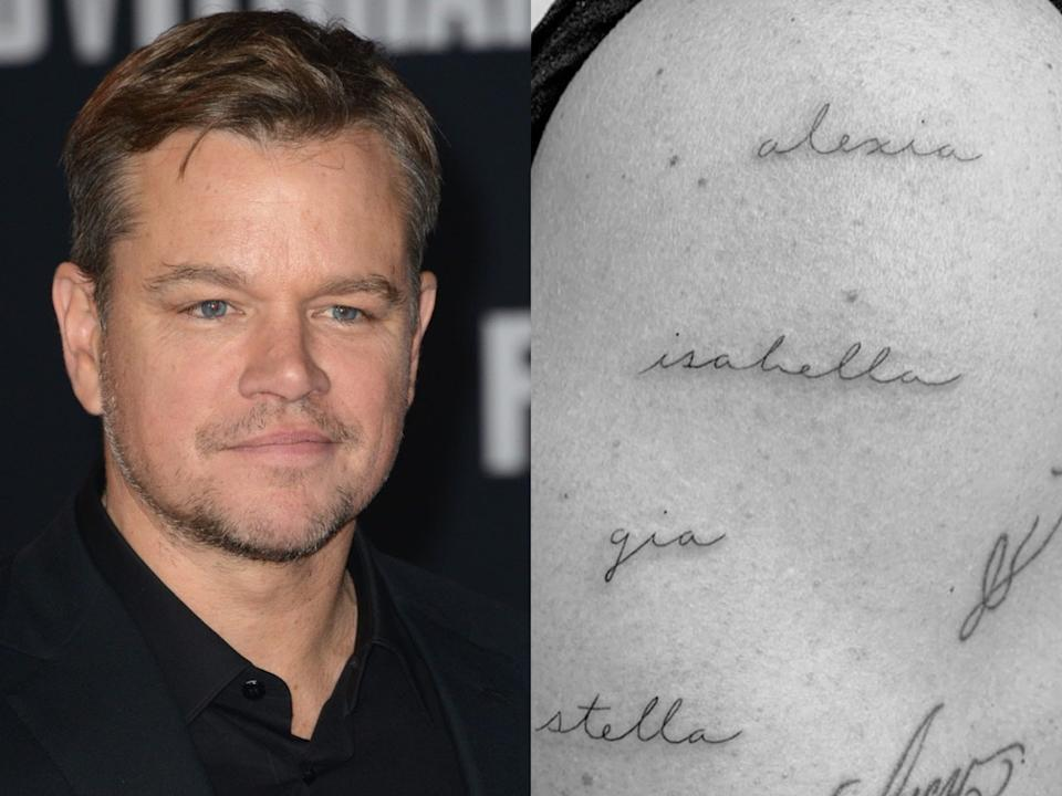Matt Damon tattoo