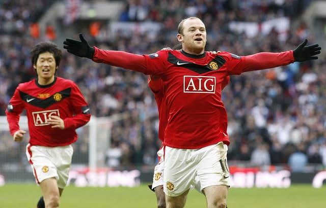 Wayne Rooney scored the winner in Manchester United's League Cup victory against Aston Villa in 2010. (Nick Potts/PA)