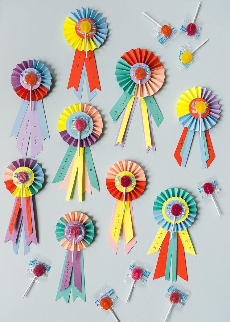 """<p>He's so sweet, so give him a sweet! These prizes are colorful and easy to assemble, and you can write your messages on the ribbons. </p><p><a href=""""https://thehousethatlarsbuilt.com/2018/06/fathers-day-lollipop-prize-ribbons.html/"""" rel=""""nofollow noopener"""" target=""""_blank"""" data-ylk=""""slk:Get the tutorial at The House That Lars Built »"""" class=""""link rapid-noclick-resp""""><em>Get the tutorial at The House That Lars Built »</em></a></p>"""