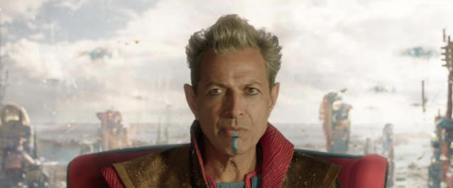 Jeff Goldblum as the Grandmaster in <i>Thor: Ragnarok</i>. (Photo: Marvel Studios)