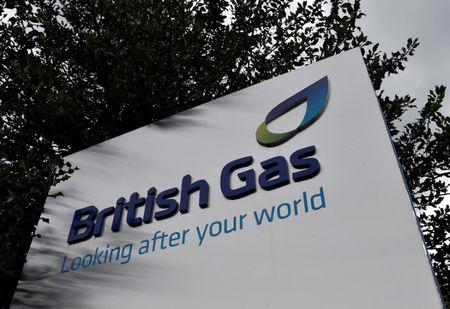 FILE PHOTO: A British Gas sign is seen outside its offices in Staines in southern England, July 31, 2014.  REUTERS/Toby Melville/File Photo