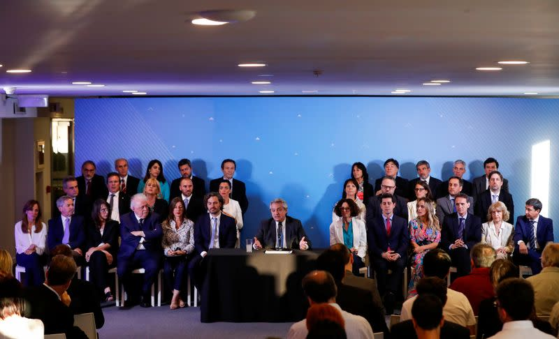 Argentina's President-elect Fernandez announces his cabinet ahead of taking office in Buenos Aires