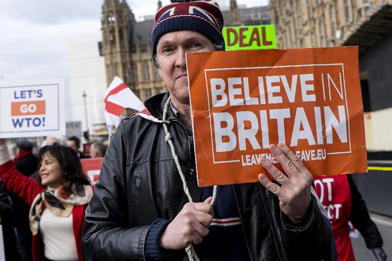 Britain was due to leave the EU on March 29 but the political deadlock has caused May to delay it twice, most recently to October 31 (AFP Photo/Niklas HALLE'N)