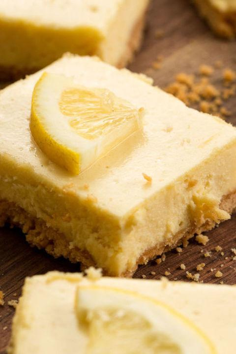 """<p><span>Of course these classic dessert bars taste even better with the addition of rich cream cheese.</span></p><p><strong>Get the recipe at <a href=""""http://www.delish.com/cooking/recipes/a46336/lemon-cheesecake-bars/"""" rel=""""nofollow noopener"""" target=""""_blank"""" data-ylk=""""slk:Delish"""" class=""""link rapid-noclick-resp"""">Delish</a>.</strong></p>"""