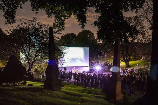 PHOTO: Green-Wood Cemetery in Brooklyn, New York, during 2018's Nightfall event. (Courtesy Green-Wood Cemetery)