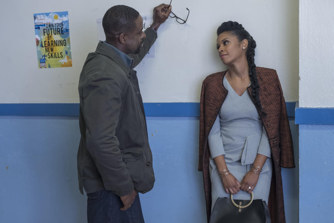 <p>Sterling K. Brown as Randall and Susan Kelechi Watson as Beth in NBC's <i>This Is Us</i>.<br /> (Photo: Ron Batzdorff/NBC) </p>